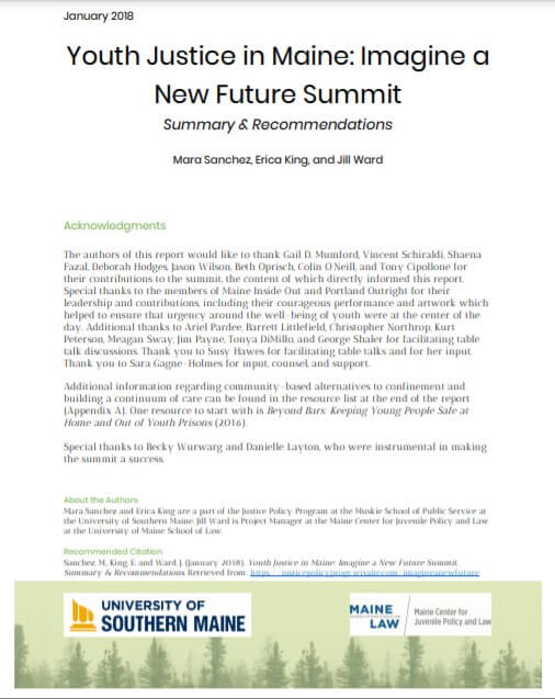 Youth Justice in Maine Summit Summary